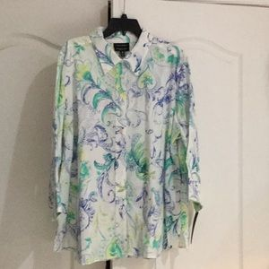 Foxcroft 22w wrinkle free blouse NWT 💯cotton